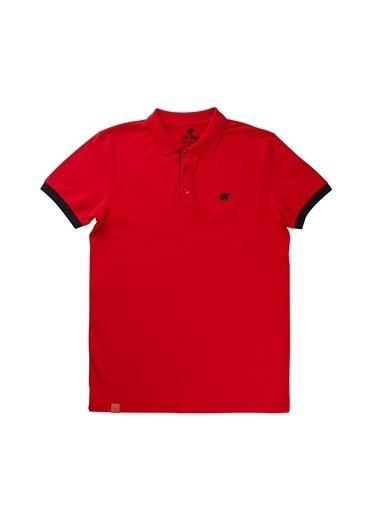 Bad Bear Bad Bear 19.01.07.036 Rım Pıque Polo Yaka Kısa Kol Maroon Erkek T-Shirt Kırmızı
